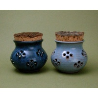 Garlic pots Waitsfield Pottery VT